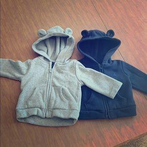 Two Baby GAP bear hoodies - unisex